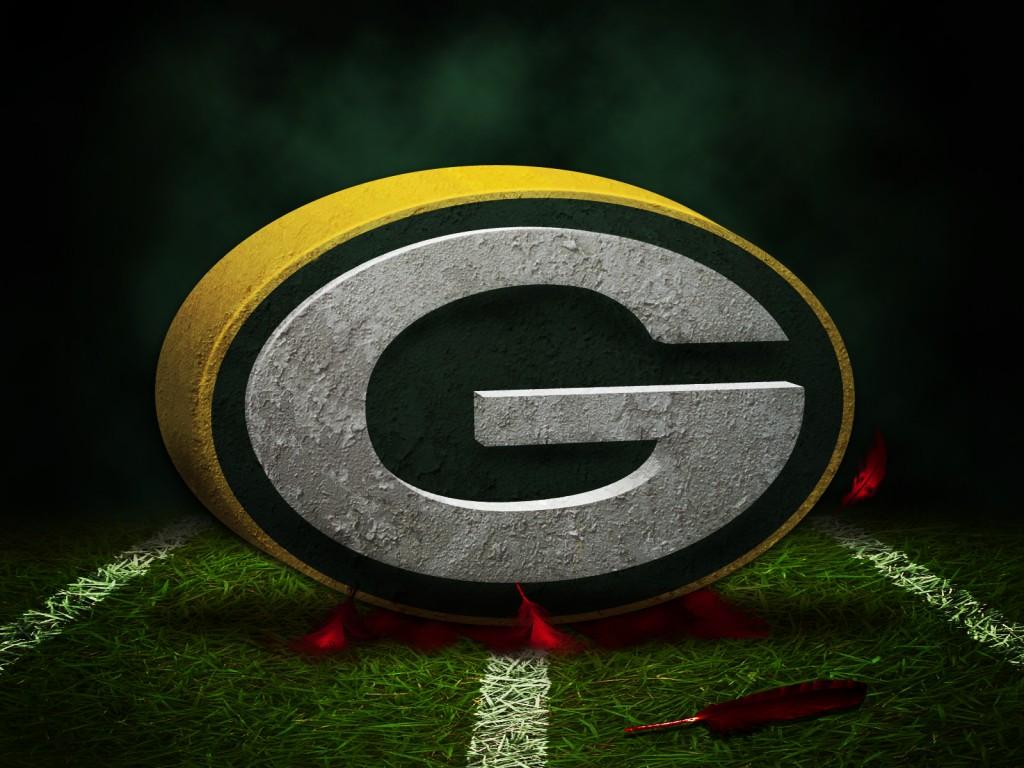 Packer logo on grass