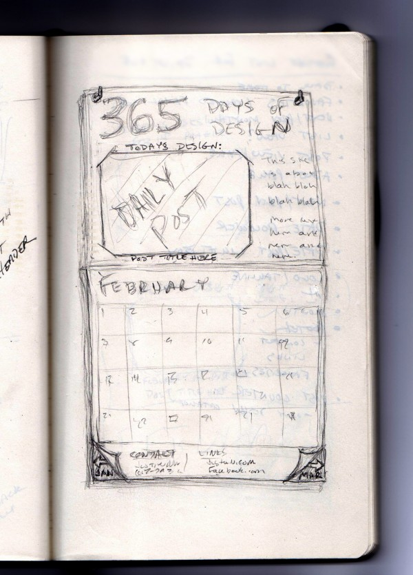Sketch of new 365 Days of Design site.