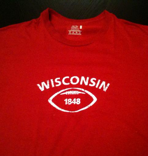 Screen print of Wisconsin design