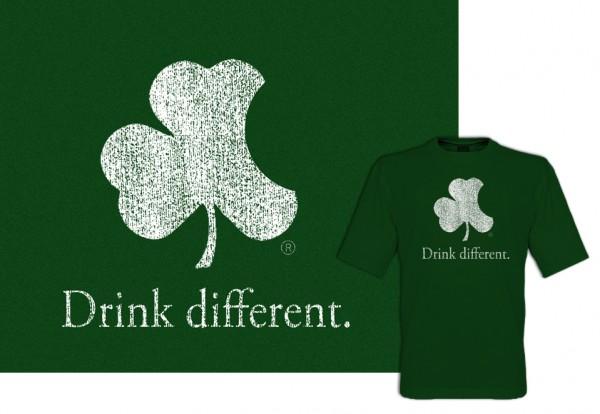 Geeky Irish Tshirt design.