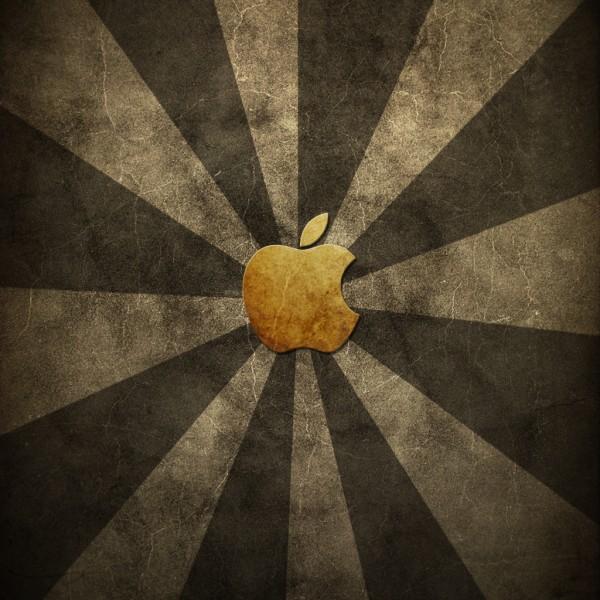 Grungy Apple - iPad Wallpaper