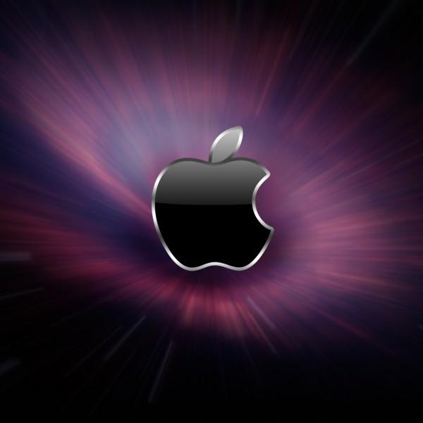 Space Apple - iPad Wallpaper