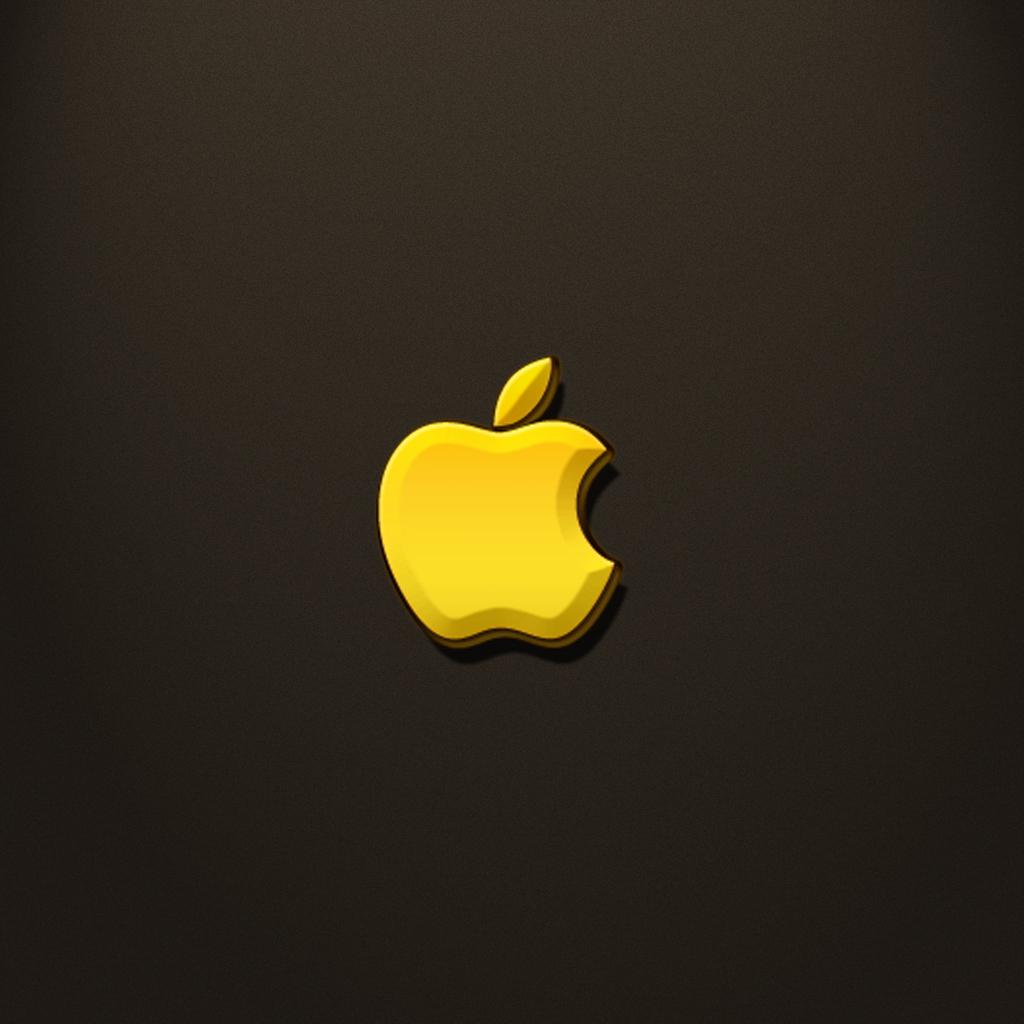 Golden Apple – iPad Wallpaper (day 120) | 365 Days of Design