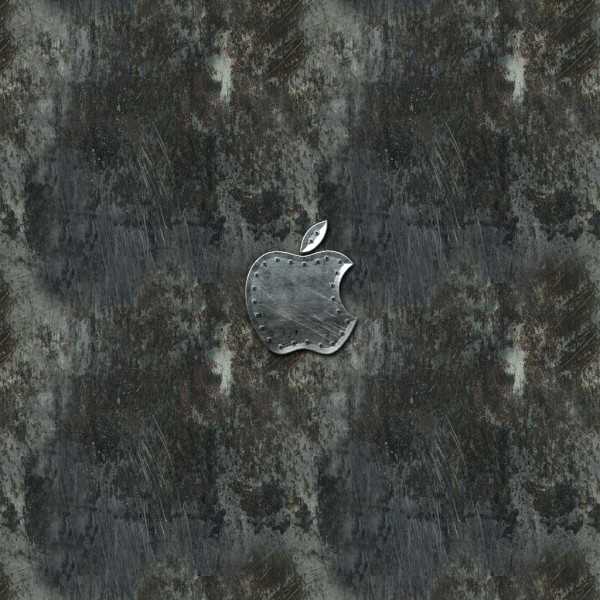Metal Apple - iPad Wallpaper