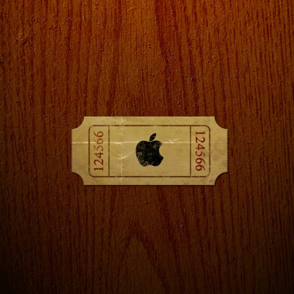 Apple Movie Ticket - iPad Wallpaper