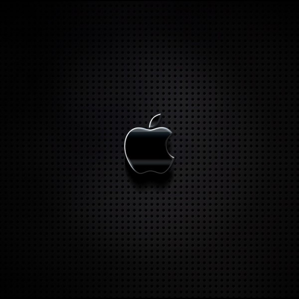 Apple on Metal Grill - iPad Wallpaper