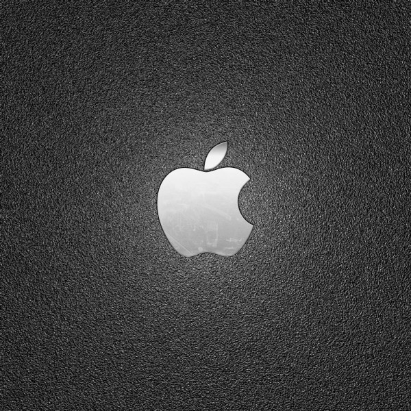 Metal Apple on Textured Plastic - iPad Wallpaper